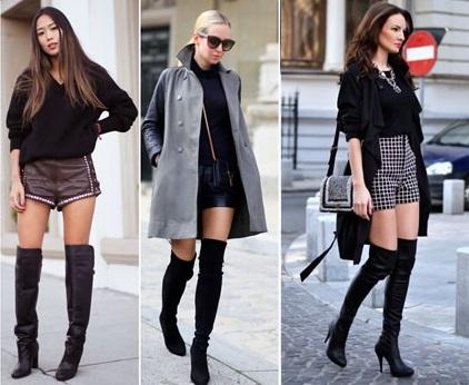 Botas-Over-The-Knee-ou-Over-Boots-Tendência-de-moda-para-o-inverno-2015-com-short
